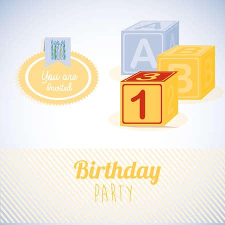 gray backgrund: birthday  design over gray   backgrund vector illustration  Illustration