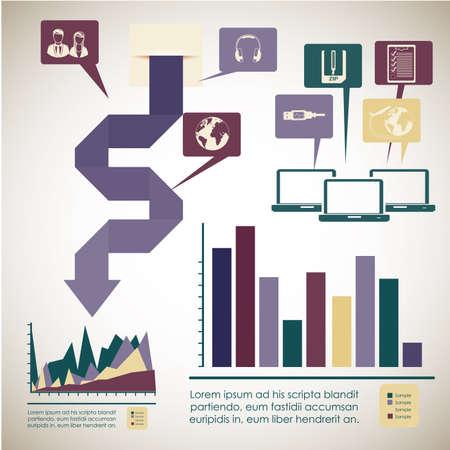 determinants: infographics design over gray background vector illustration