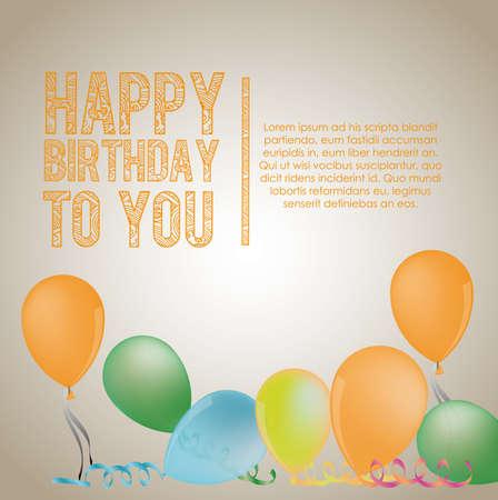 gray backgrund: birthday  design over  gray   backgrund vector illustration