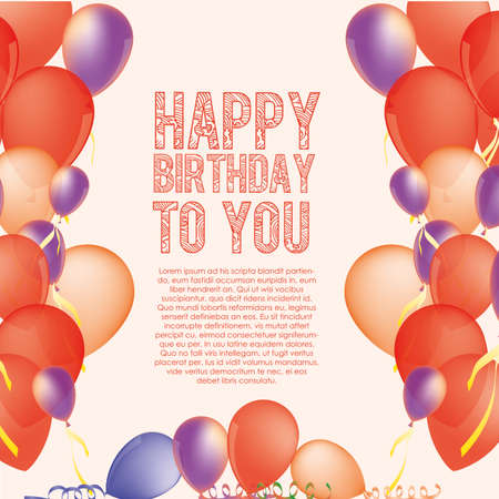 invited: birthday  design over  pink  backgrund vector illustration