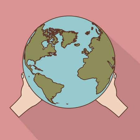 zeměpisný: geografický design na pozadí vektorové ilustrace Ilustrace