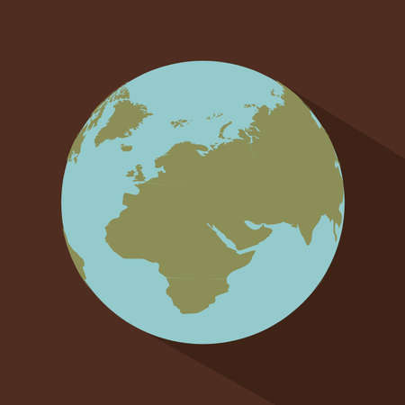 geographic: geographic design over brown background vector illustration