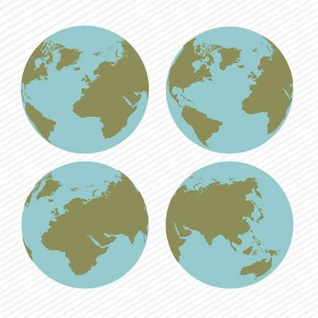 zeměpisný: geografický design na bílém pozadí vektorové ilustrace Ilustrace