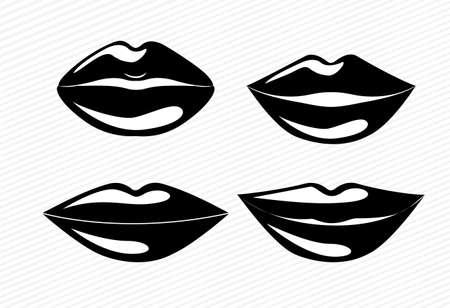 mouth design over white  background vector illustration Vector