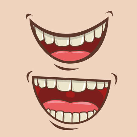 mouth design over pink background vector illustration Vector