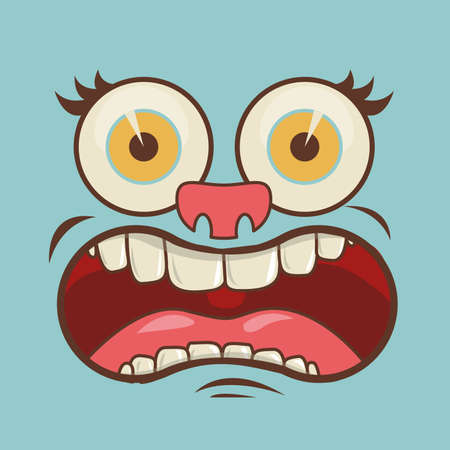 mouth design over blue background vector illustration Vector