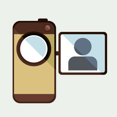handycam: camera design over white  background vector  illustration    Illustration