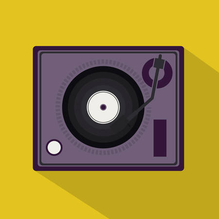 interpreter: musical design over yellow  background vector illustration