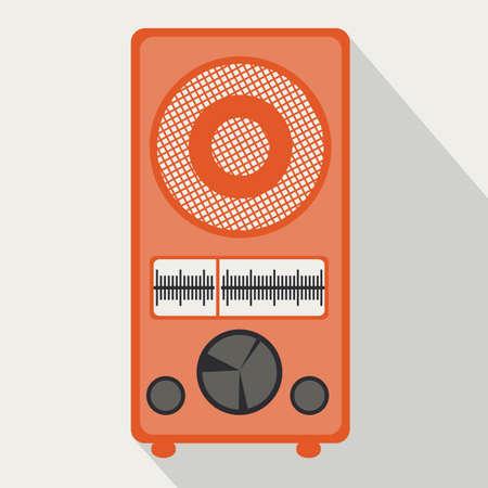 am radio: musical design over white background vector illustration