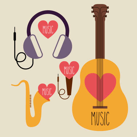 conservatory: musical design over beige background vector illustration