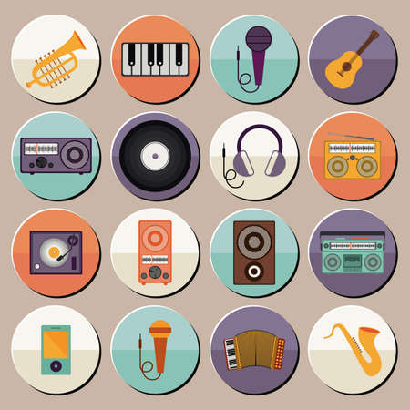 musical design over gray background vector illustration Vector