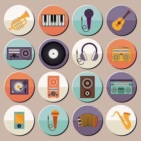 interpreter: musical design over gray background vector illustration