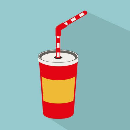 soda splash: drink design over blue background vector illustration