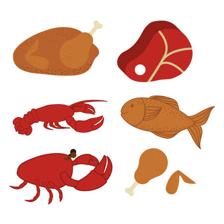 fish type: food design over white background vector illustration