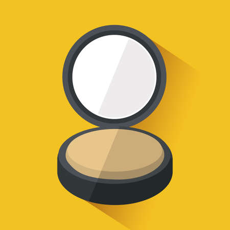 cosmetics design over yellow background vector illustration Vector