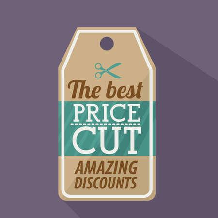 better price: shopping design over  purple background vector illustration