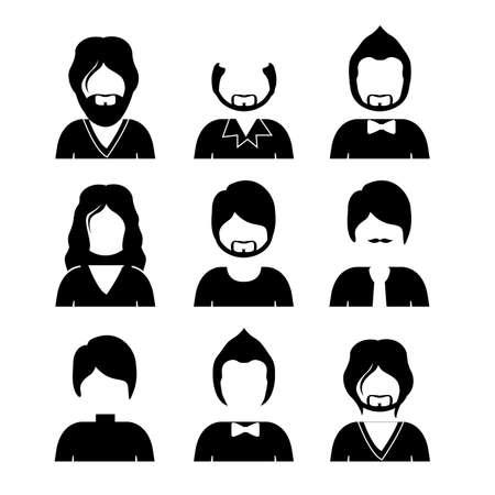 men hair style: people design  over white background vector illustration