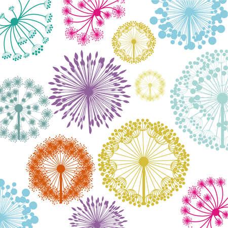 flowers design over white background vector illustration   Vector