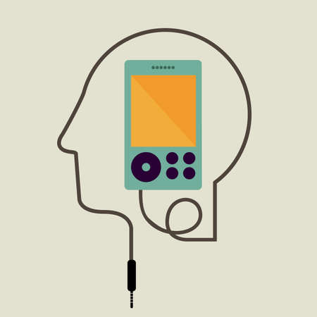 mental object: think design over gray background vector illustration