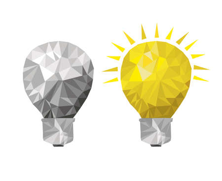 ligh: bulbs design over white background vector illustration