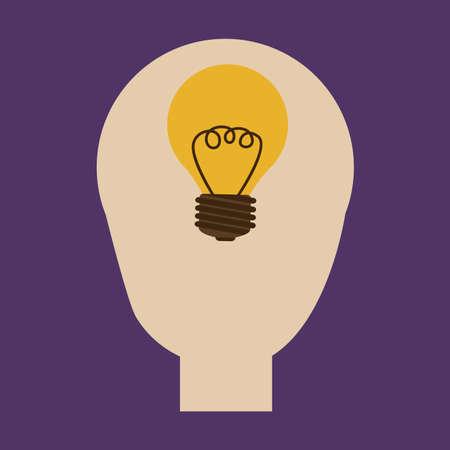 think design over purple background vector illustration Illustration