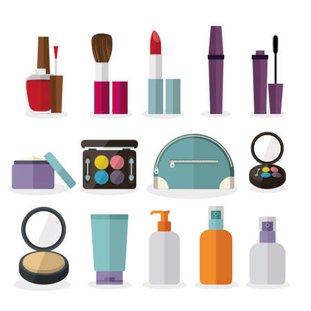 cosmetics design over  white background vector illustration Vector