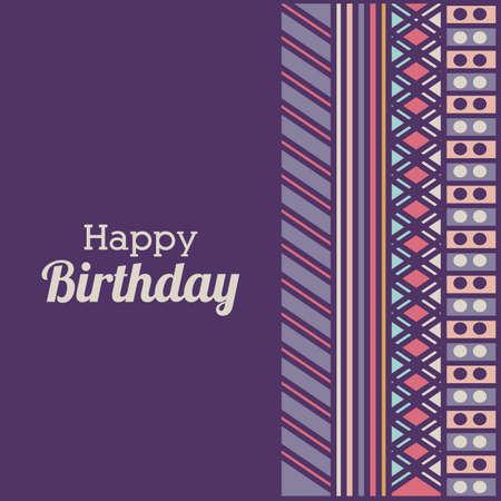 backgrund: birthday  design over purple   backgrund vector illustration