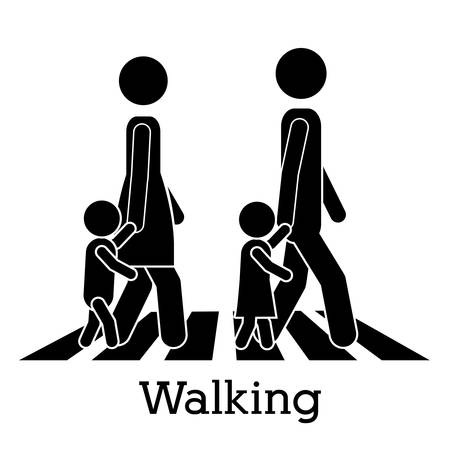 pedestrian walkway: walking design over white background vector illustration Illustration