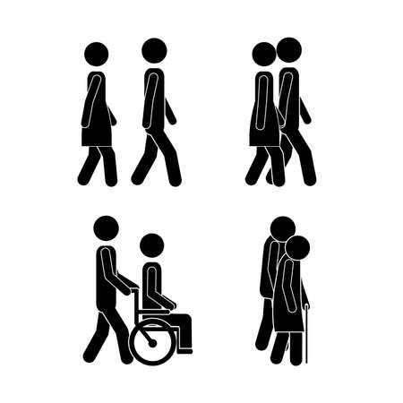 walking design over white background vector illustration Vector