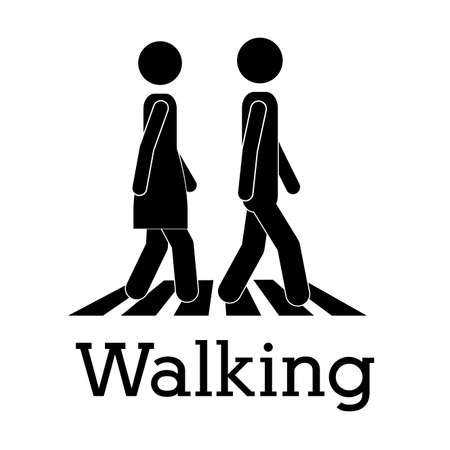 walking design over white background vector illustration Vector