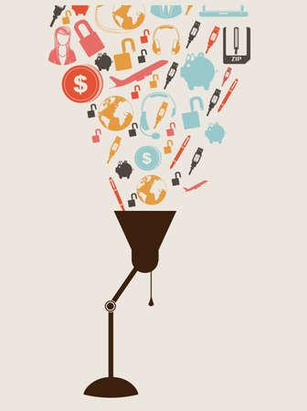 social media  over  white background vector illustration