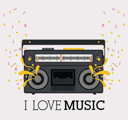 love music design over pattern background vector illustration   Vector