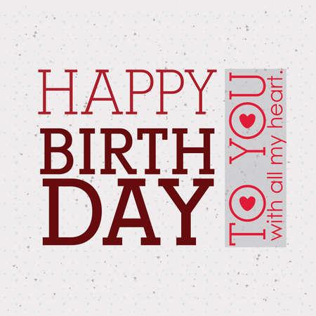 backgrund: happy birthday  design over white  backgrund vector illustration  Illustration