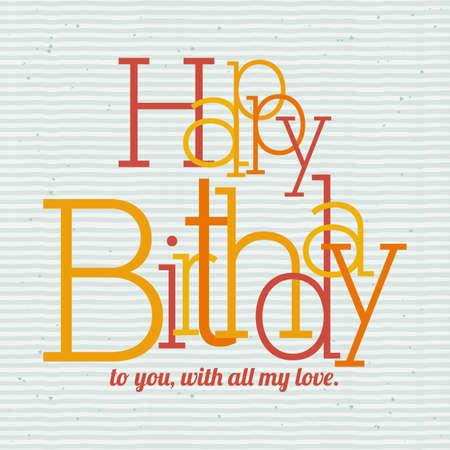 backgrund: happy birthday  design over dotted  backgrund vector illustration