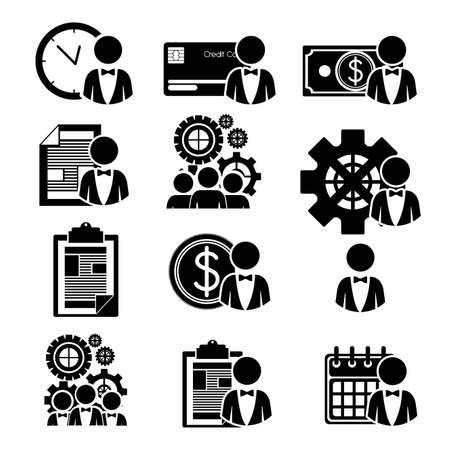 business design  over white  background vector illustration Vector