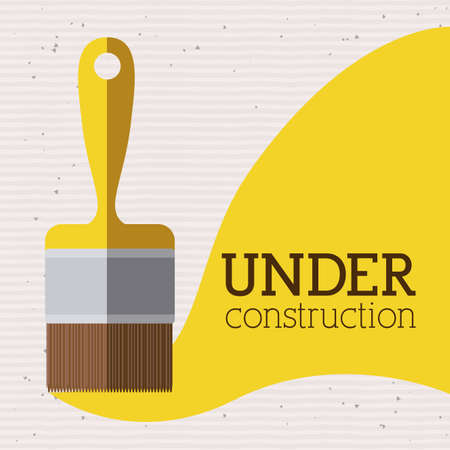 under construction over white background vector illustration   Vector