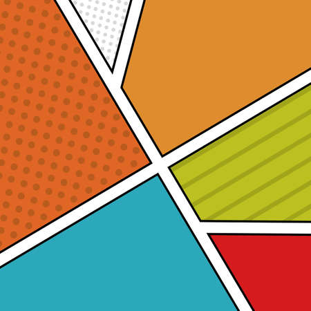 pop art   over  pattern   background vector illustration Stock Vector - 26487071