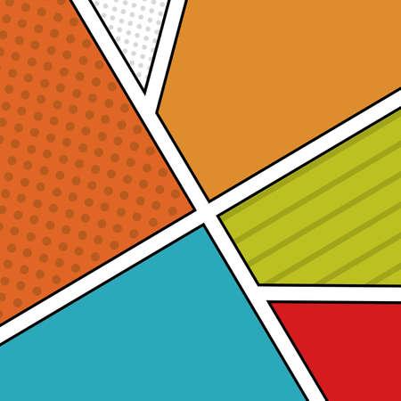 pop art over patroon achtergrond vector illustratie