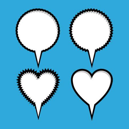 pop art   over   blue  background vector illustration Stock Vector - 26487078