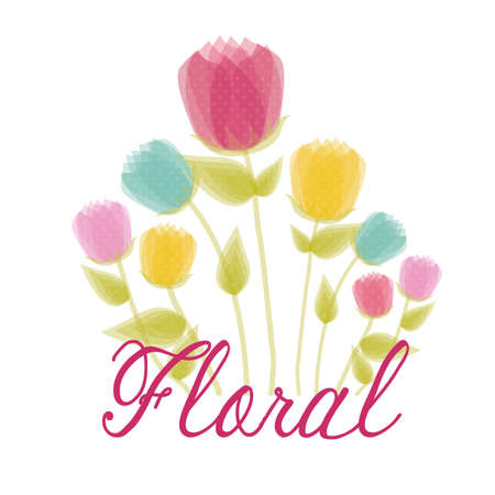floral  design over white  background vector illustration   Vector