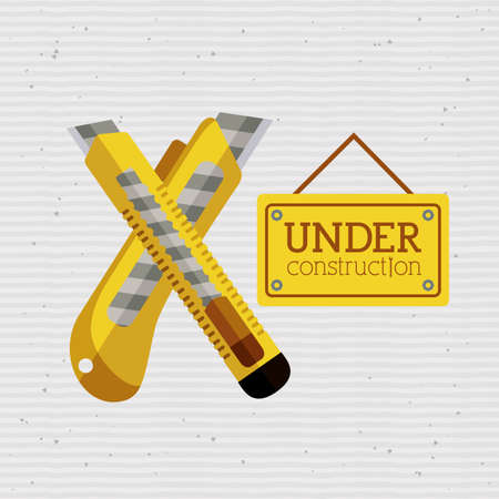 under construction over dotted  background vector illustration     Stock Vector - 26487148
