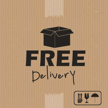 delivery design over brown background vector illustration