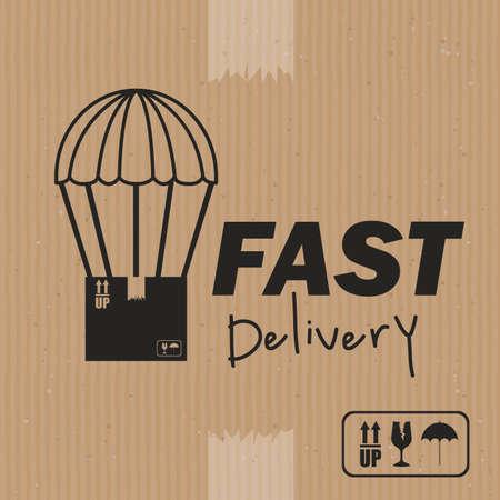 article marketing: delivery design over brown background vector illustration