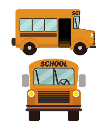 secondary school: school design over white background vector illustration Illustration