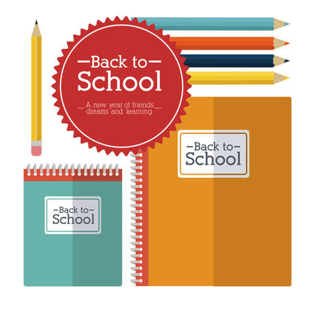 secondary colors: school design over white background vector illustration Illustration