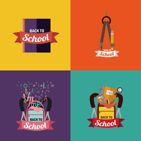 intermediate: school design over colors background vector illustration Illustration