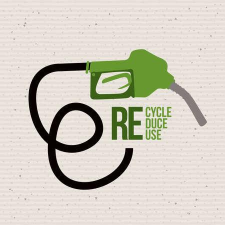 seal gun: eco design over dotted background vector illustration  Illustration