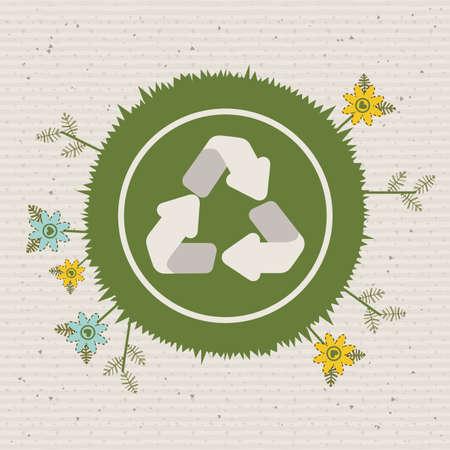 enviromental: eco design over dotted background vector illustration  Illustration