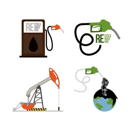 seal gun: eco design over  white background vector illustration