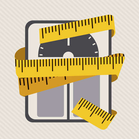 over weight: lose weight over white background vector illustration